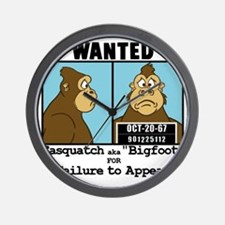 bigfoot_wanted10x10 Wall Clock