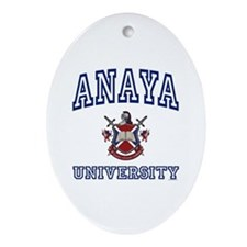 ANAYA University Oval Ornament