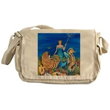 Fairy Godmother Mermaid 11x11 290 JE Messenger Bag