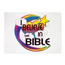 I Believe In The Bible Cute Believer Design 5'x7'A