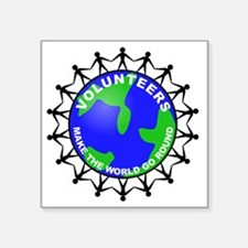 "volunteers world final Square Sticker 3"" x 3"""