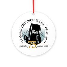 75th emblem - SSHSA Round Ornament