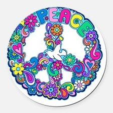 peace 01 Round Car Magnet