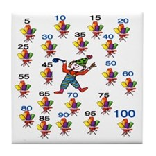 Count by 5 Wacky Tile Coaster