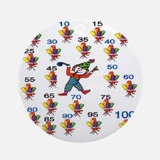 Count by 5 Wacky Round Ornament