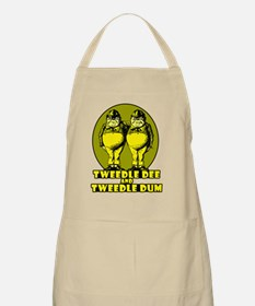 Tweedle Dee and Tweedle Dum Logo Yellow Apron