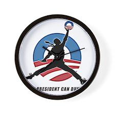 Obama Dunk CafePress PNG Wall Clock