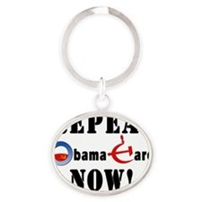 Repeal Obama for Light Oval Keychain