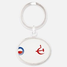 Repeal Obama for Dark Oval Keychain