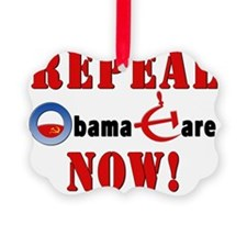 Repeal Obama Red Ornament