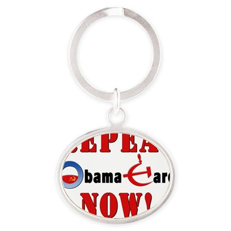 Repeal Obama Red Oval Keychain