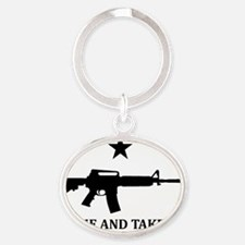 COME AND TAKE IT Flag Magnet Oval Keychain