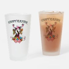 easter dogs doxies copy Drinking Glass