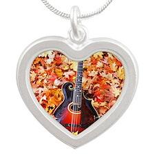 FramedArtLarge_Gibson_Fall_L Silver Heart Necklace