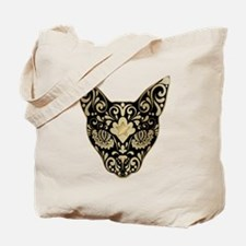Gold and black mystic cat Tote Bag