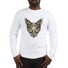 Gold and black mystic cat Long Sleeve T-Shirt