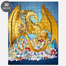 2-BigGoldDragonwithGlobe PosterP Puzzle