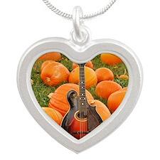 FramedArtLarge_Gibson_Pumpki Silver Heart Necklace
