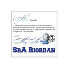 "SrA Riordan Square Sticker 3"" x 3"""