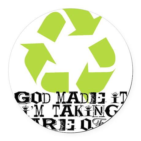 God made it Round Car Magnet
