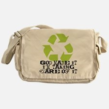 God made it Messenger Bag