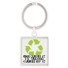 God made it Square Keychain