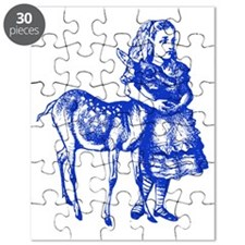 Alice with Fawn Blue Puzzle