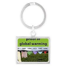 Proof of Global Warming Landscape Keychain