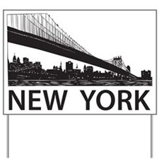 New York Skyline Yard Sign