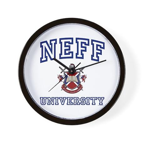 NEFF University Wall Clock