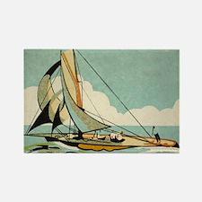 Sailboat,Japan, Vintage Art Poster Magnets