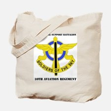 DUI - 3-10th Aviation Regiment with Text Tote Bag