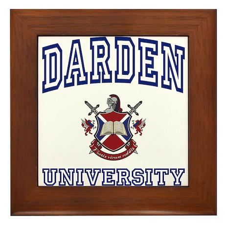 DARDEN University Framed Tile