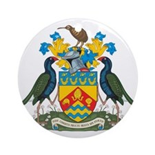 Christchurch Coat Of Arms Round Ornament
