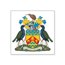"""Christchurch Coat Of Arms Square Sticker 3"""" x 3"""""""