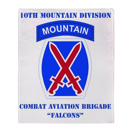 DUI - 10th Mountain Division - CAB w Throw Blanket