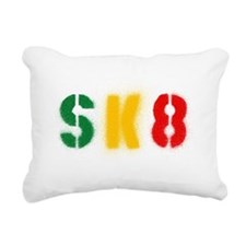 sk8_estencil_rasta Rectangular Canvas Pillow