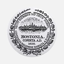 Boston Seal Round Ornament