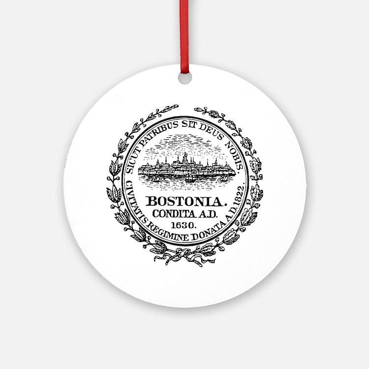 Boston Seal Round Ornament