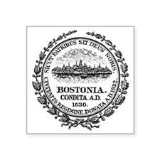 "Boston Seal Square Sticker 3"" x 3"""