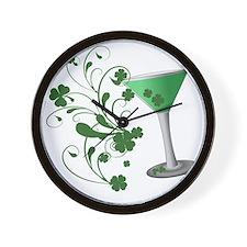 St. Patricks Day Martini Wall Clock