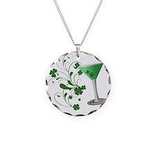 St. Patricks Day Martini Necklace