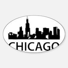 chicago1 Sticker (Oval)