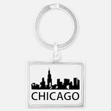 chicago1 Landscape Keychain