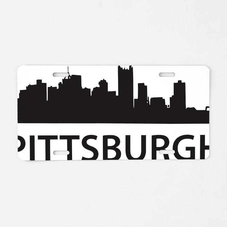 pittsburgh1 Aluminum License Plate