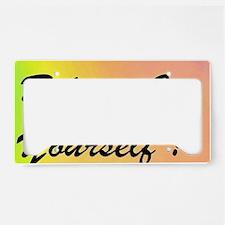 ABCsB STICKER2 BLURREDRAINBOW License Plate Holder