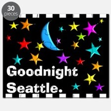 Good Night Seattle Blanket Puzzle