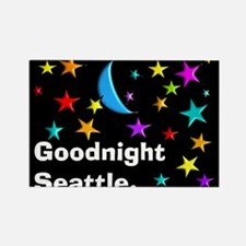 Good Night Seattle Blanket Magnets