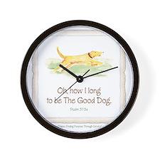 Good Dog-no green Wall Clock