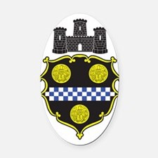 Pittsburgh1 Oval Car Magnet